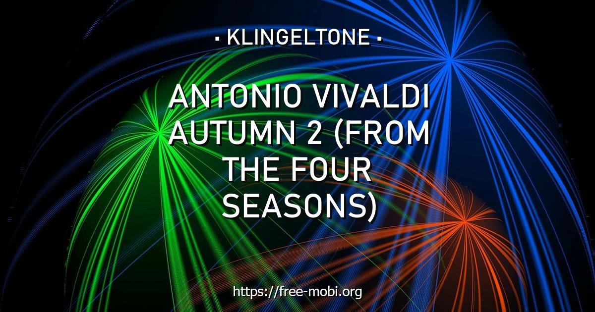 klingelton antonio vivaldi  autumn 2 from the four