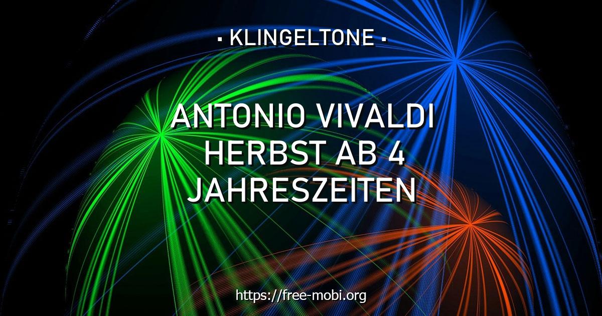 klingelton antonio vivaldi  herbst ab 4 jahreszeiten